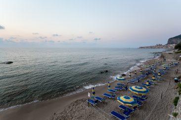 Pláž v Cefalù