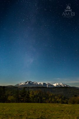 Tatry, hviezdy, jeseň