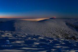 nočný pohľad na Krížnu  (NP Veľká Fatra)