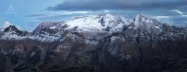 Marmolada, Dolomity, panoráma, 7x vertikálne foto