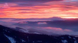 Východ slnka spod Prašivej