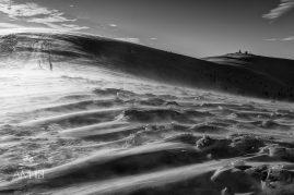 Fujavica (snow storm) cestou na Krížnu (Veľká Fatra)