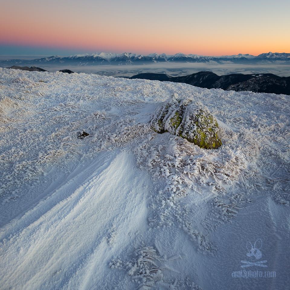 pohľad z hrebeňa Nízkych Tatier