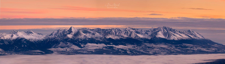 Pohľad na Vysoké Tatry z Nízkych Tatier