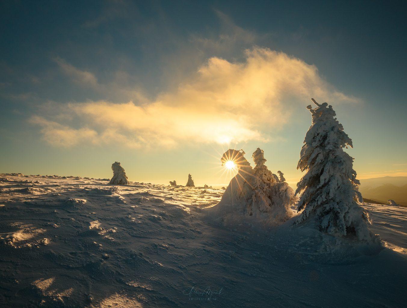 Západ slnka vo Veľkej Fatre