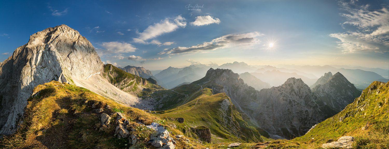 Mangart and Mangart pass panorama