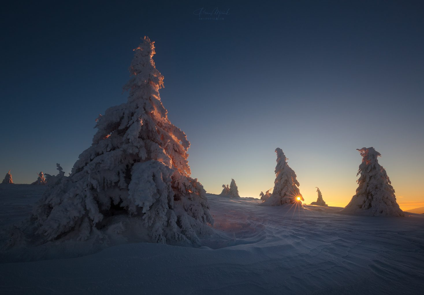 Zimná krajina Veľkej Fatry