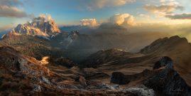 Monte Pelmo a Civetta v oblakoch