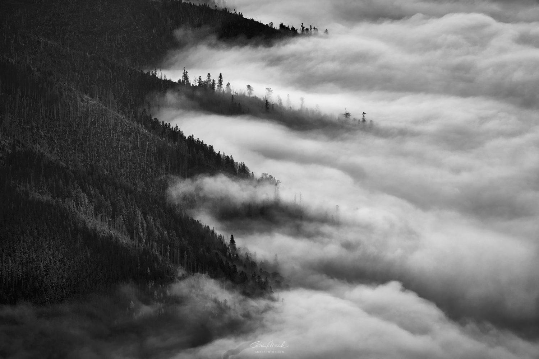 Inverzné ráno v Nízkych Tatrách