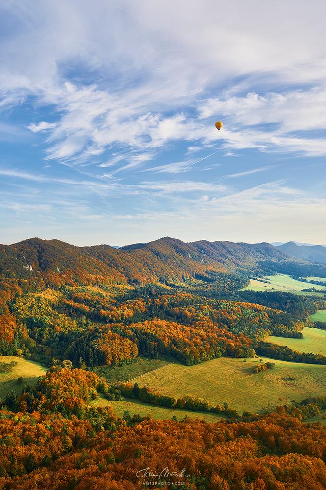 Balónom ponad Súľovské skaly